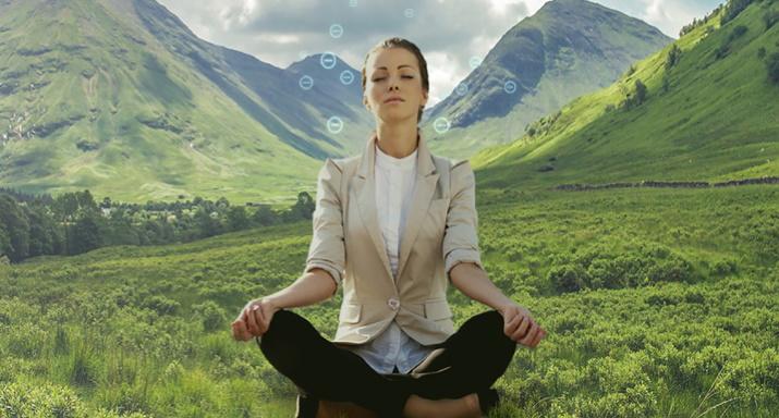 Meditacija u prirodi ioni
