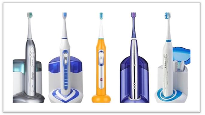 grupa ultrazvučnih četkica za zube
